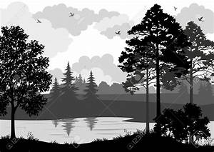 Forest clipart tree landscape - Pencil and in color forest ...