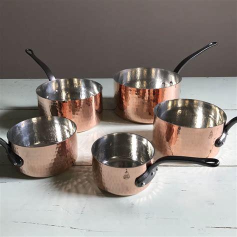 sale rare mm professional vintage hammered french copper etsy vintage copper pots