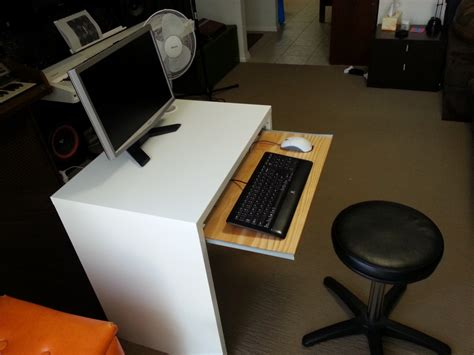 bureau laptop ikea micke desk with keyboard tray ikea hackers ikea