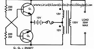 The Circuits  Simple Inverter Circuit From 12 V Up To 120v