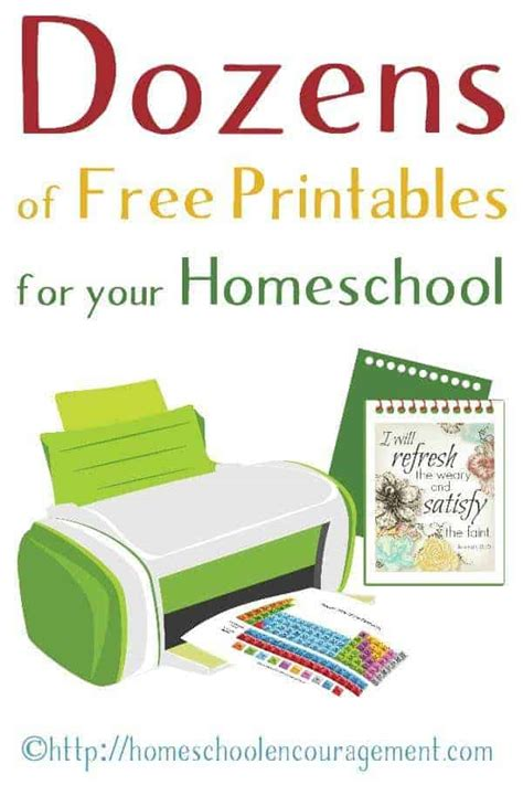 free printable worksheets for homeschool learning