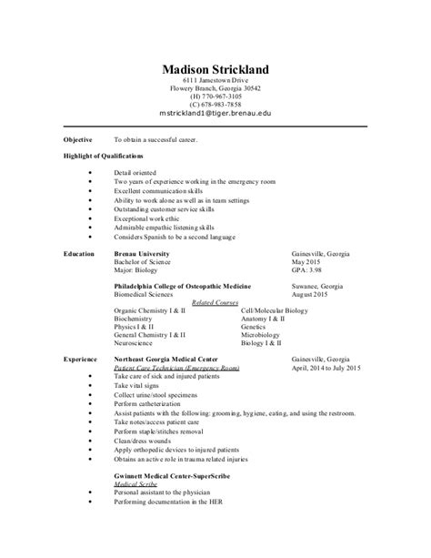 Resume For Applying To Pa School by Resume Pa School Scribe