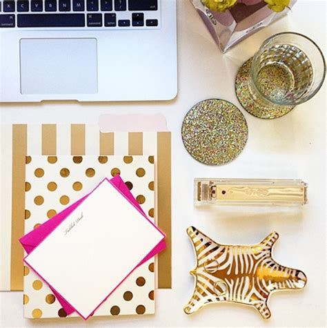gold desk accessories my luxefinds kate spade desk accessories and office