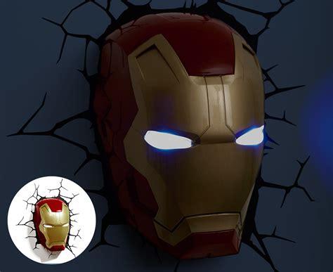3d marvel iron mask wall light ebay