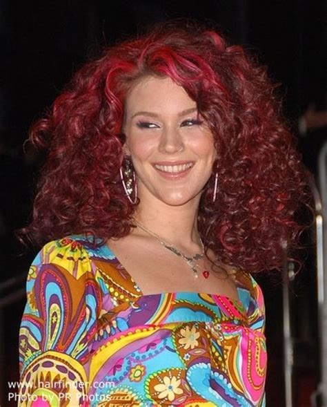 Joss Stone With Big Red Hair Styled Into Cork Screw Curls