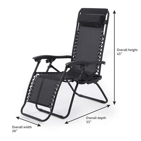 Zero Gravity Chair With Drink Holder by 2pc Zero Gravity Chairs Lounge Patio Folding Recliner