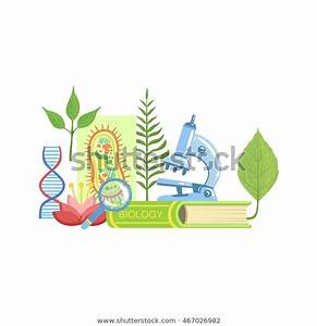 Biology Class Set Objects Stock Vector  Royalty Free