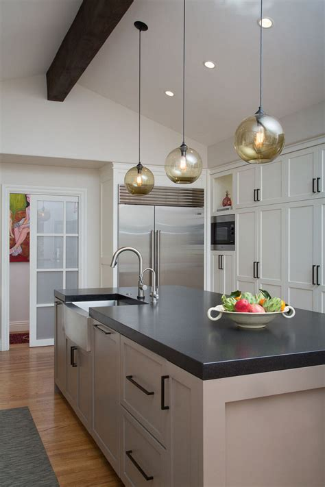 hanging kitchen lights island modern lighting