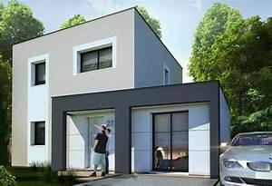 plan maison individuelle 3 chambres 27b habitat concept With plan de maison cubique 6 maisons cubiques architecture et tradition