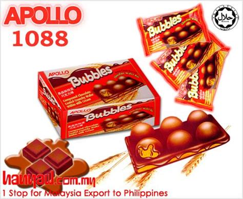 apollo chocolate wafer bar bubbles  chocolate wafers