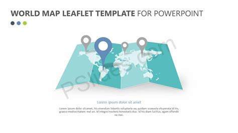 world map leaflet template  powerpoint pslides