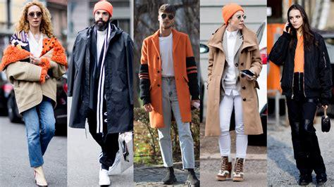 The Street Style Crowd Wore Pops Orange Milan Men