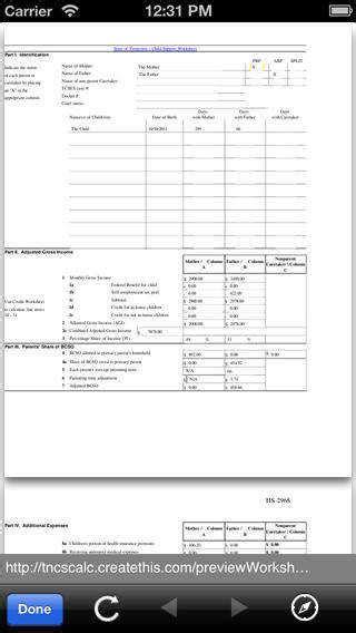 child support guidelines worksheet homeschooldressage