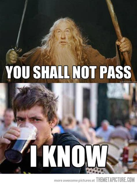 You Shall Not Pass Meme - finally someone understands gandalf the meta picture