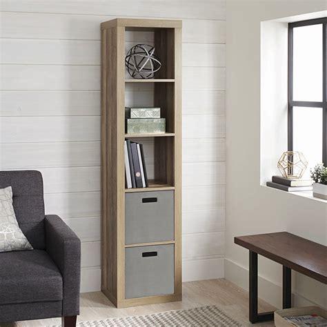 Narrow Black Bookcase by Narrow Shelf Organizer 5 Tier Cubbie Black Bookcase