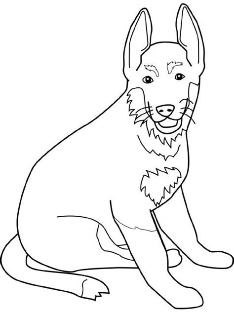 german shepherd coloring pages  coloring pages  kids