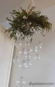 hometalk diy clear ornament hanging chandelier