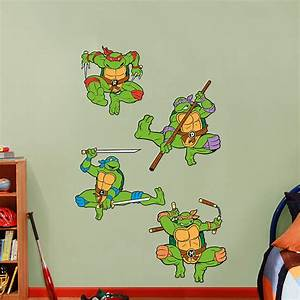classic teenage mutant ninja turtles collection wall decal With awesome ninja turtle wall decals