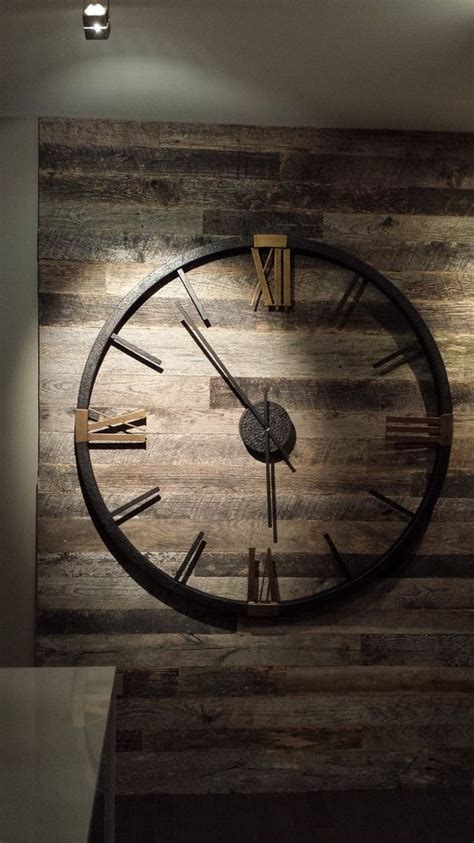 Clocks Oversized Metal Wall Clock Extra Large Decorative