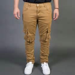 Embellish NYC Men Liam Cargo Biker Jeans tan