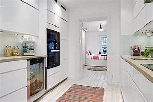 Einrichtung Kleine Küche : helle wohnung im skandinavischen stil einrichtungsideen aus schweden ~ Sanjose-hotels-ca.com Haus und Dekorationen
