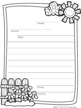 Letter Writing Template Friendly Letter Writing Templates By The Think