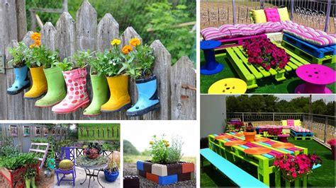 Decoracion De Jardines Con Articulos Reciclados Youtube
