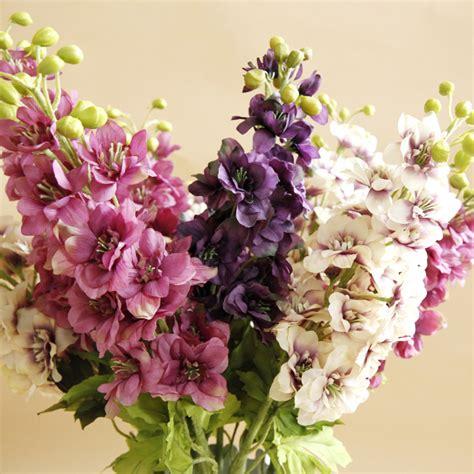 artificial wreaths cheap wholesale 100pcs lot beautiful delphinium ajacis 29 5