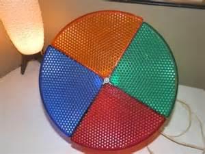 vtg mell rotating color wheel christmas light for aluminum tree glitter works ebay