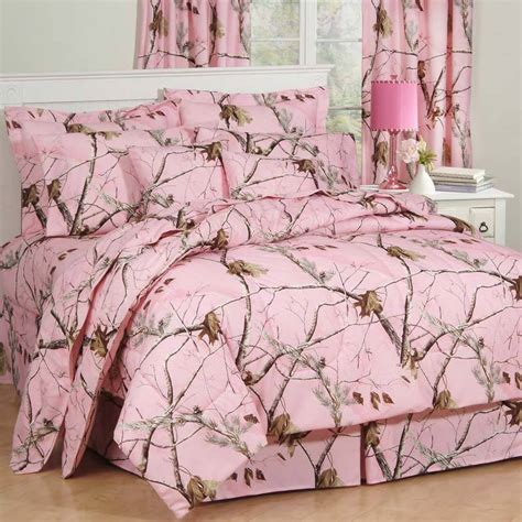 girls realtree ap pink camo comforter set sheets bed in