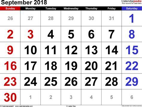 september calendar monthly calendar template