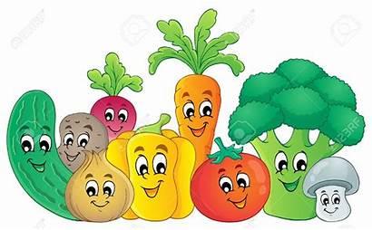 Cartoon Healthy Foods Eating Vegetables Clipart Veggies