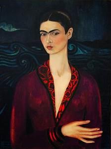 3eme art autoportrait a la robe de velours de frida kahlo With robe self portrait