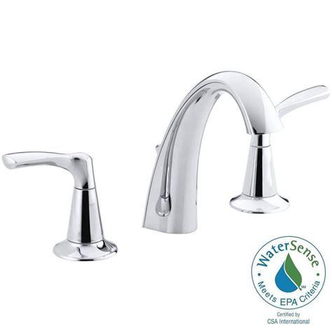 kohler mistos 8 in widespread 2 handle water saving