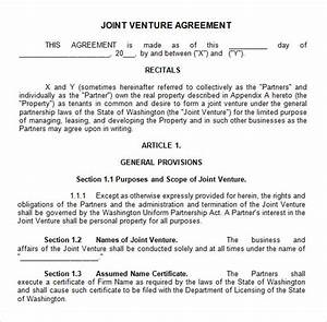 sample joint venture 9 free documents in pdf word With joint will template free