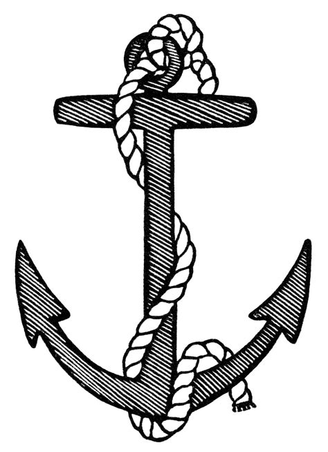 clipart black and white anchor clip black and white images