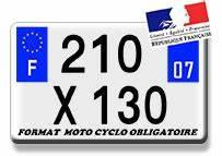 Plaque D Immatriculation Moto : plaques d 39 immatriculation siv alu ou plexiglas moto cyclo ~ Medecine-chirurgie-esthetiques.com Avis de Voitures
