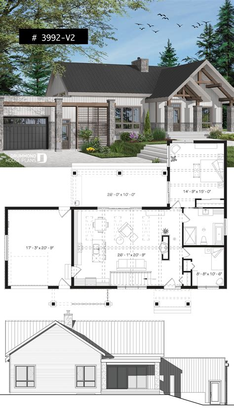 Insulate Bedroom Floor Garage by 3 Bedroom Small Modern Cape House Plan Garage Cathedral