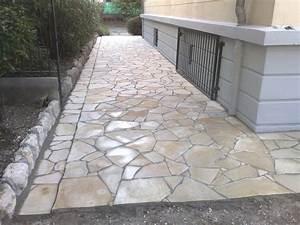 terrasse en pierre plate nos conseils With pierre pour dallage exterieur