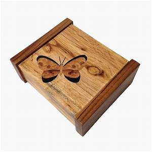 Buy a Hand Made Keepsake Box With Marquetry Butterfly