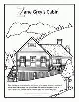 Cabin Coloring Pages Log Zane Grey Clip Adults Arizona Lake Outline Mobile Template Books Popular Visit Sketch sketch template
