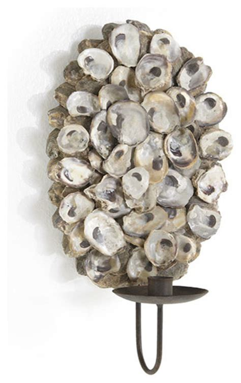 oyster shell sconce modern wall sconces dallas by