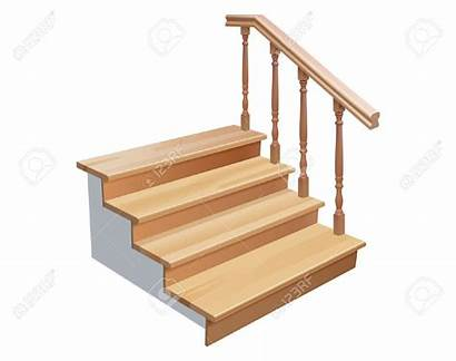 Stairs Clipart Wooden Section Vector Cross Background