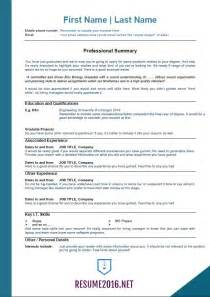 best resume format sles for 2016 2016 resume templates for those who still unemployed