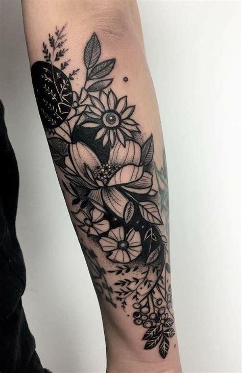 black flowers tattoo flower tattoos tattoos flower
