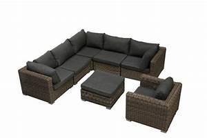 salon de jardin resine tressee venise With tapis exterieur avec canape d angle resine tressee
