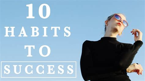 10 Habits Of Successful People Youtube