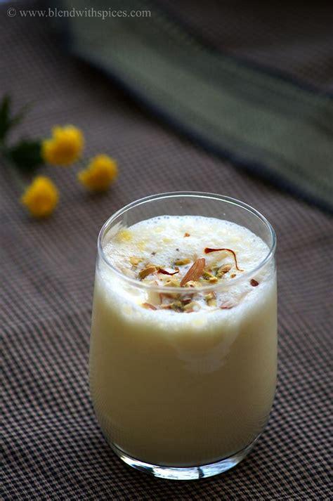kesar lassi recipe saffron sweet lassi punjabi lassi