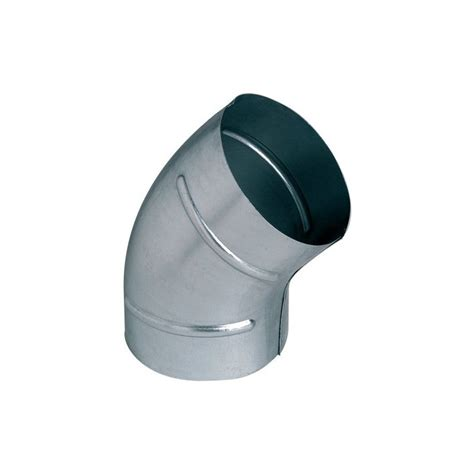 Coude 45° galva - 200mm - ALDES 11093391 - Domomat.com