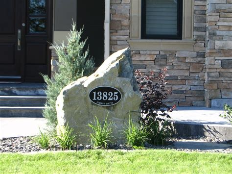 elite personalized address yard signs   slate design